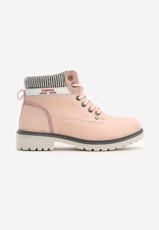Новые женские зимние пудровые ботинки - Фото 3