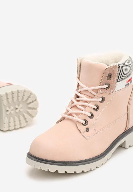 Новые женские зимние пудровые ботинки - Фото 4