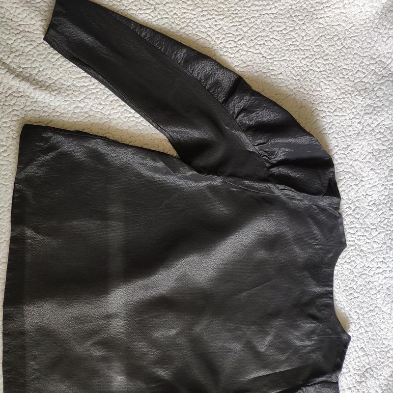 Шикарный пиджак жакет кардиган с объемными плечами тренд блуза - Фото 5