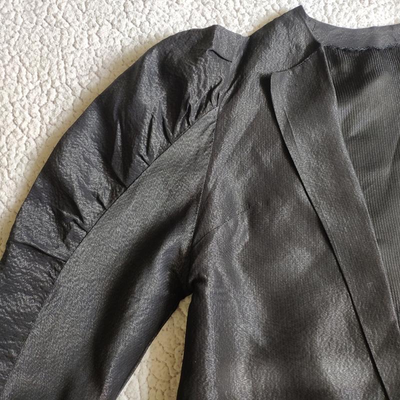 Шикарный пиджак жакет кардиган с объемными плечами тренд блуза - Фото 6