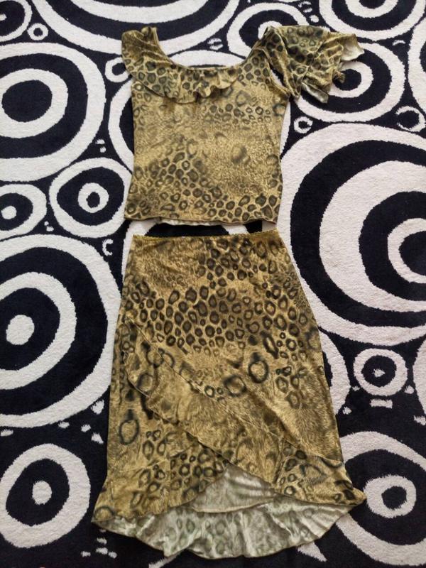 Летний костюм из вискозы.юбка и майка