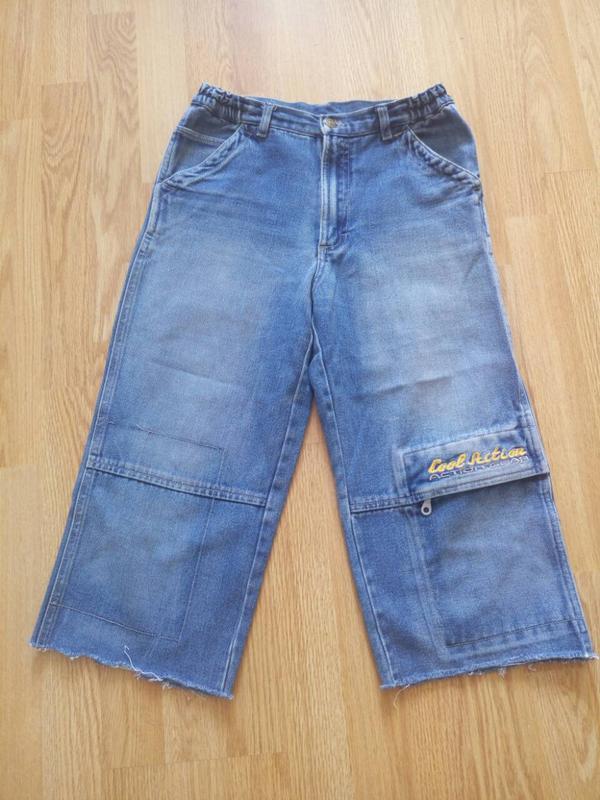 Шорты капри джинсовые