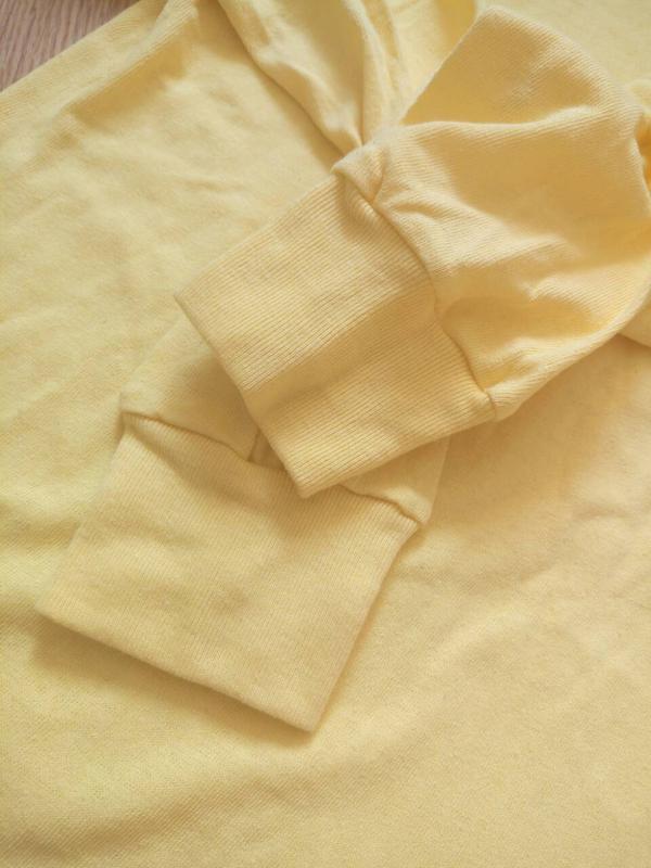 Однотонный желтый реглан,кофта.унисекс - Фото 3