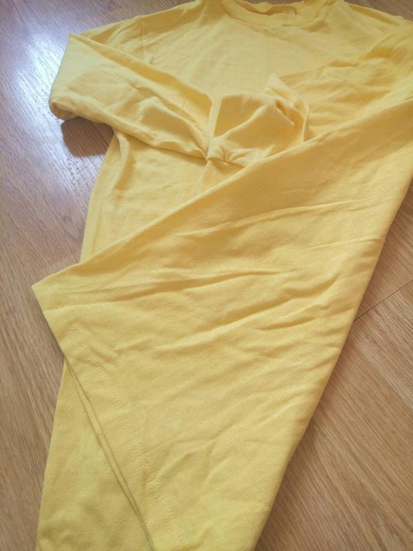 Однотонный желтый реглан,кофта.унисекс - Фото 4