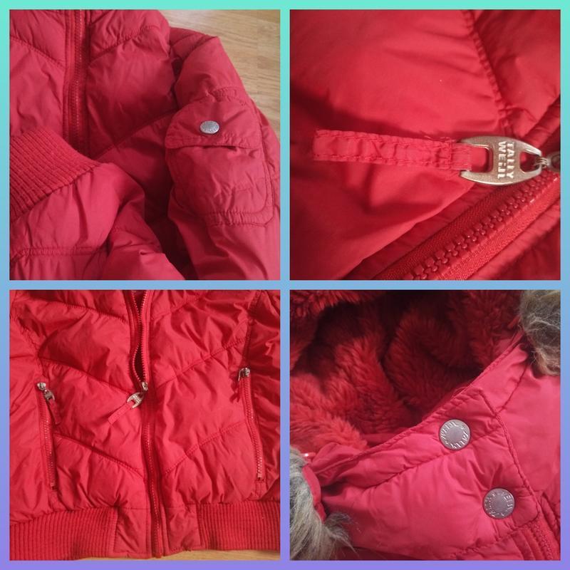 Зимняя куртка короткая с капюшоном - Фото 5