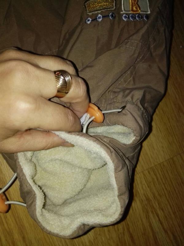 Очень теплые зимние штаны1-1,5 года - Фото 4
