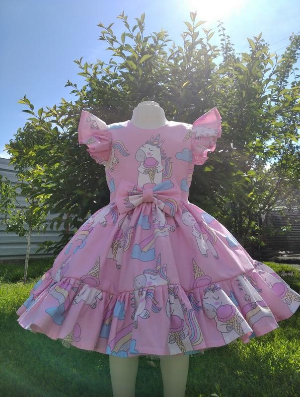 Единорожкп платье для девочек нарядное, праздничное