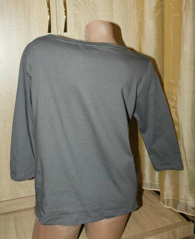 Реглан,блуза с фото принтом на шелковистой ткани. - Фото 2