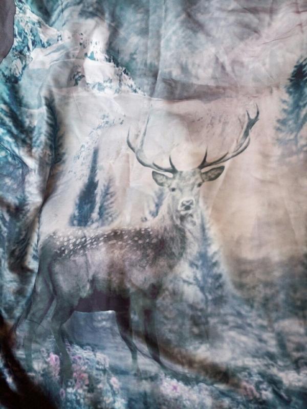 Реглан,блуза с фото принтом на шелковистой ткани. - Фото 5