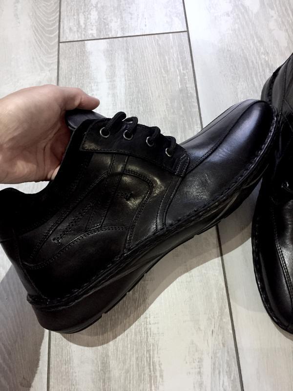 Кожаные ботинки , отличное качество