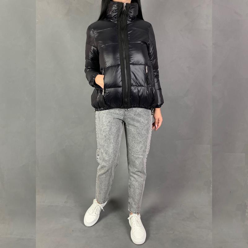 Пуховик куртка объёмная оверсайз со стойкой.