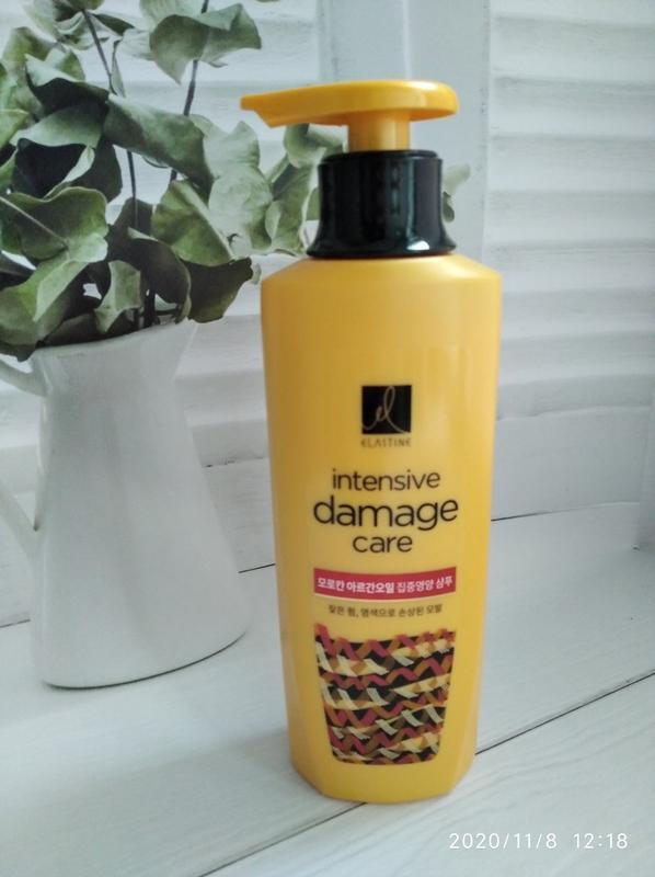 Восстанавливающий шампунь для сухих волос elastine intensive d...