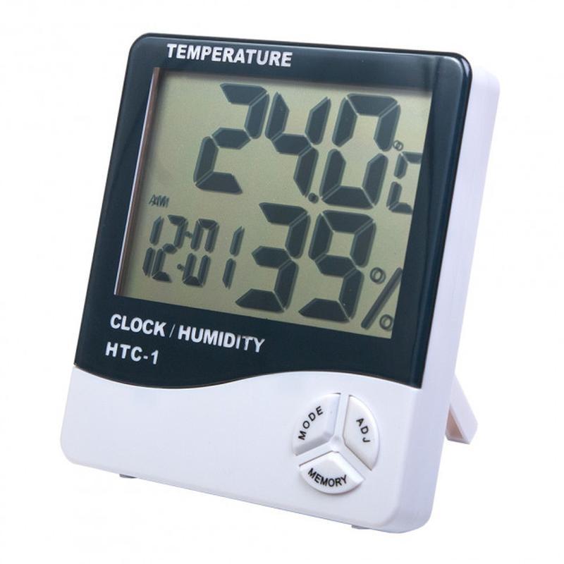 Термометр гигрометр цифровой HTC-1 часы настольные HTC 1