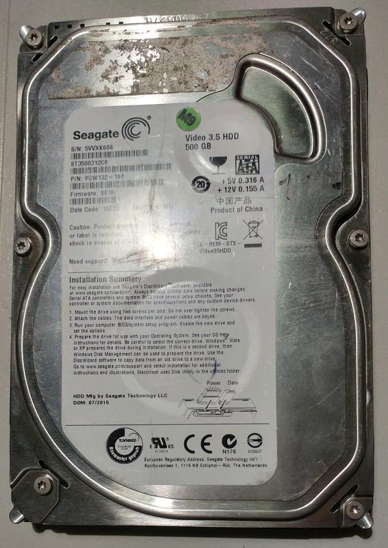 Жесткий диск 3.5 Seagate Video 3.5 HDD 500Гб