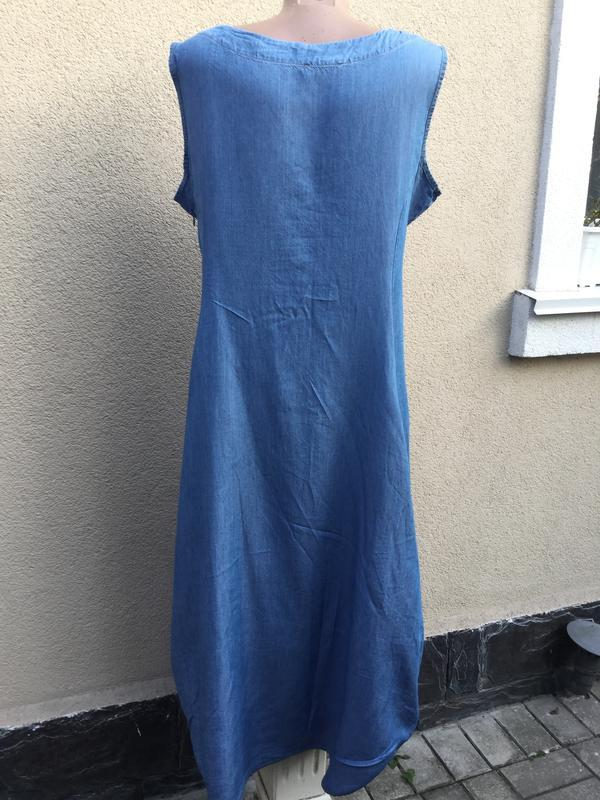 Джинсовое платье,сарафан ассиметричный,-балон,заужено к низу,,... - Фото 4