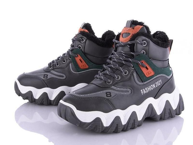 Крутые модные зимние кроссовки подростковые, р 39 - 23,5 см