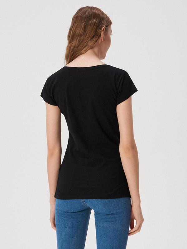 Новая черная футболка sinsay принт daddy's girl папина дочка xs s - Фото 3