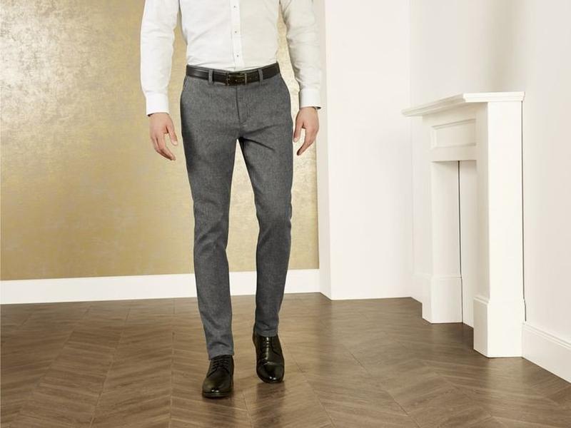 Теплые мужские фланелевые брюки slim fit от livergy германия