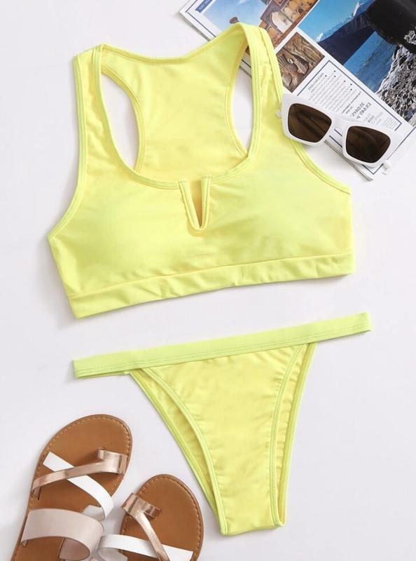 Купальник яскравий, жовтий купальник, трендовий купальник.