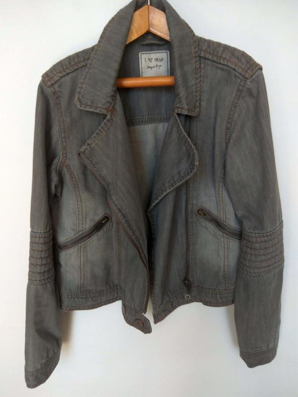 Распродажа!!! стильный джинсовый пиджак next