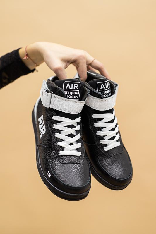 Подростковые кожаные зимние ботинки/кеды/кроссовки