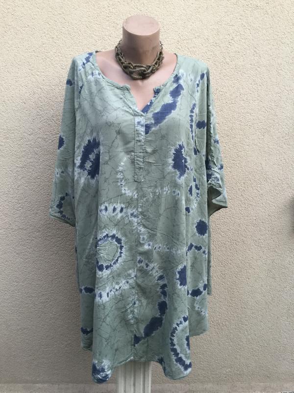 Штапель блуза-реглан,рубаха-пончо свободного кроя,вискоза,боль...