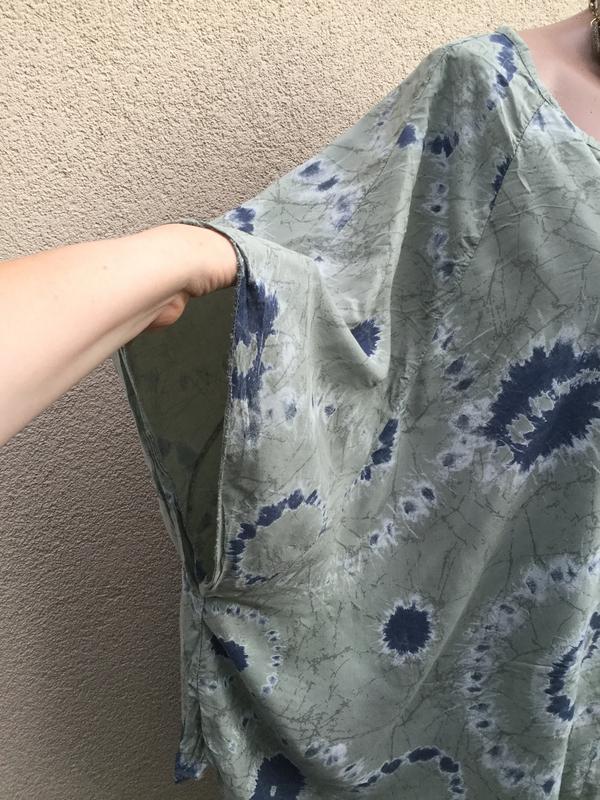 Штапель блуза-реглан,рубаха-пончо свободного кроя,вискоза,боль... - Фото 5