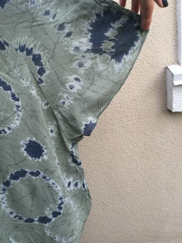 Штапель блуза-реглан,рубаха-пончо свободного кроя,вискоза,боль... - Фото 7