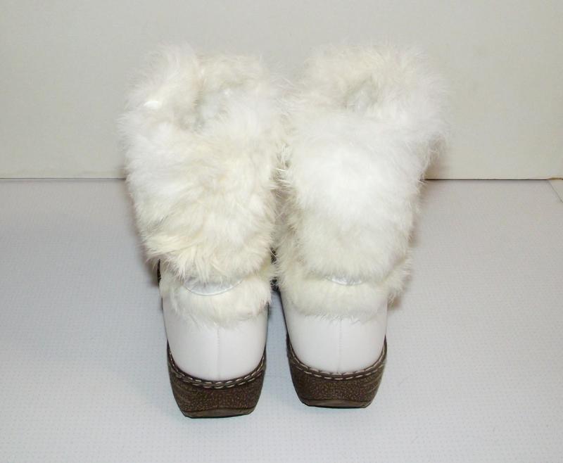 Сапоги зимние девочкам белые klf 34-35 - Фото 2