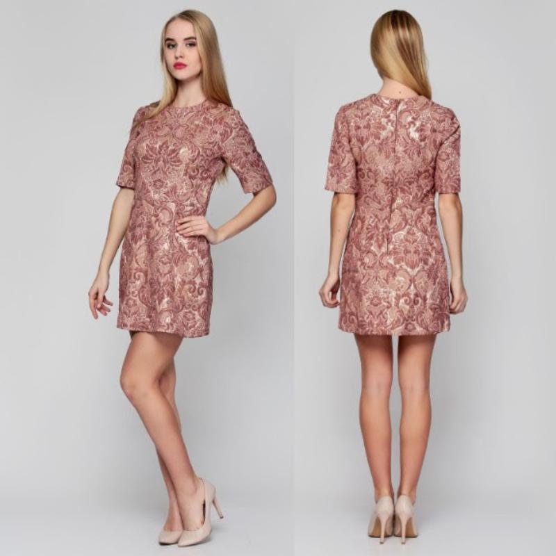Золотисто коричневое платье h&m,отрезное платье,бжевое платье ...