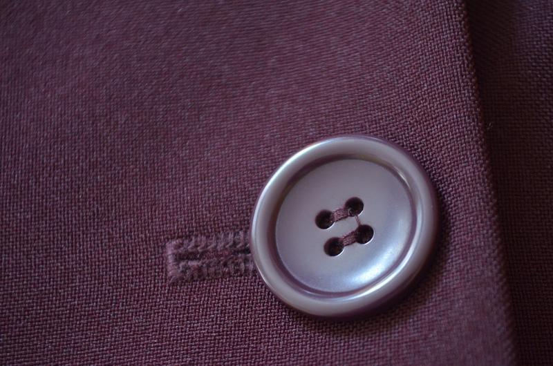 Классный фирменный стильный длинный жакет цвет бургунди - Фото 8