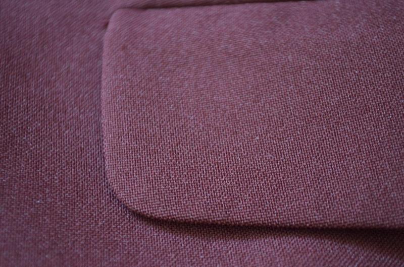 Классный фирменный стильный длинный жакет цвет бургунди - Фото 9