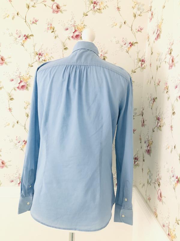 Ralph lauren хлопковая рубашка с воланами - Фото 4