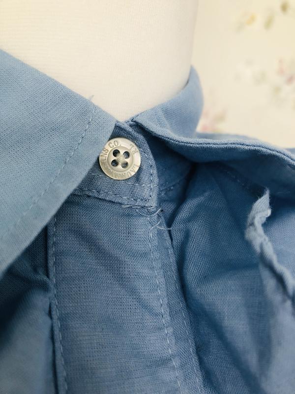 Ralph lauren хлопковая рубашка с воланами - Фото 7