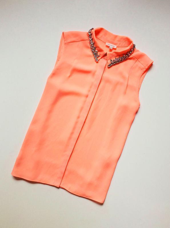 River island блуза с расшитым воротником - Фото 3