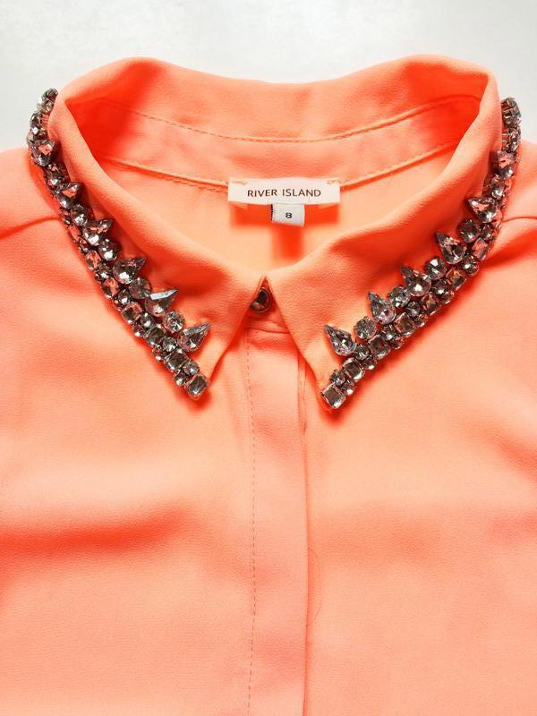 River island блуза с расшитым воротником - Фото 4