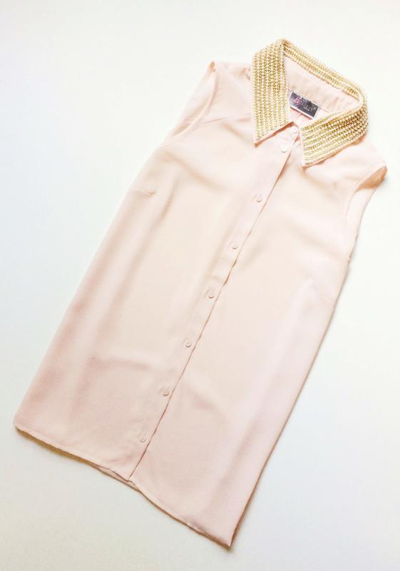 Lipsy блуза с расшитым воротничком
