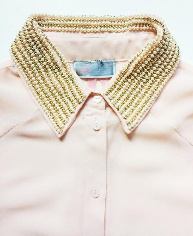 Lipsy блуза с расшитым воротничком - Фото 2