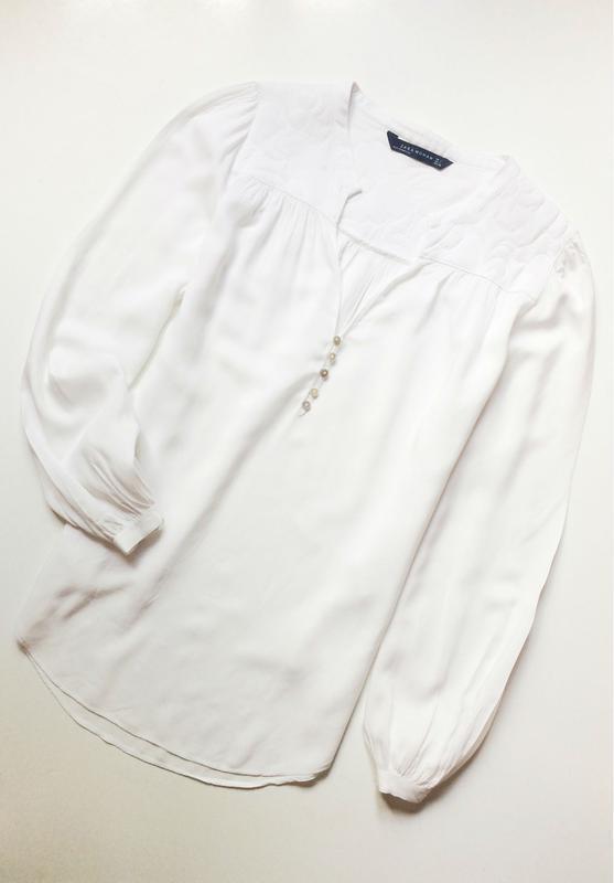 Zara блуза со стеганными плечиками - Фото 3