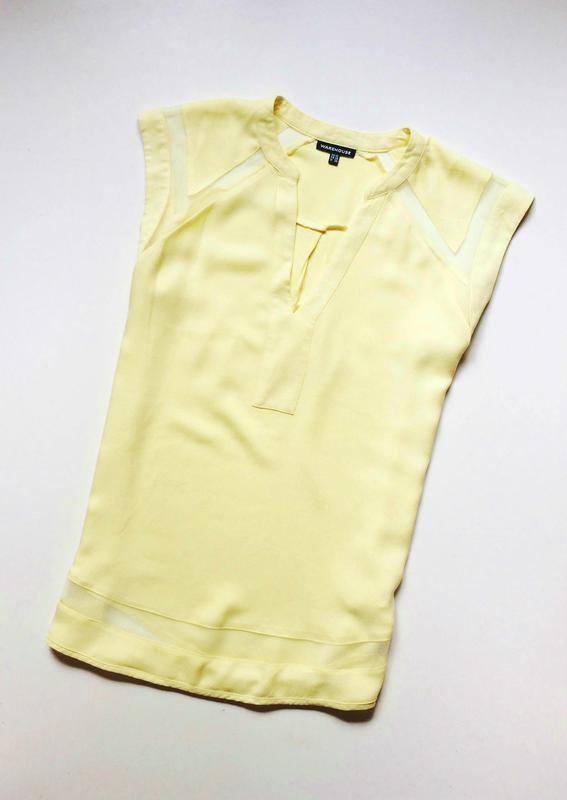 Warehouse блуза с прозрачными деталями - Фото 3