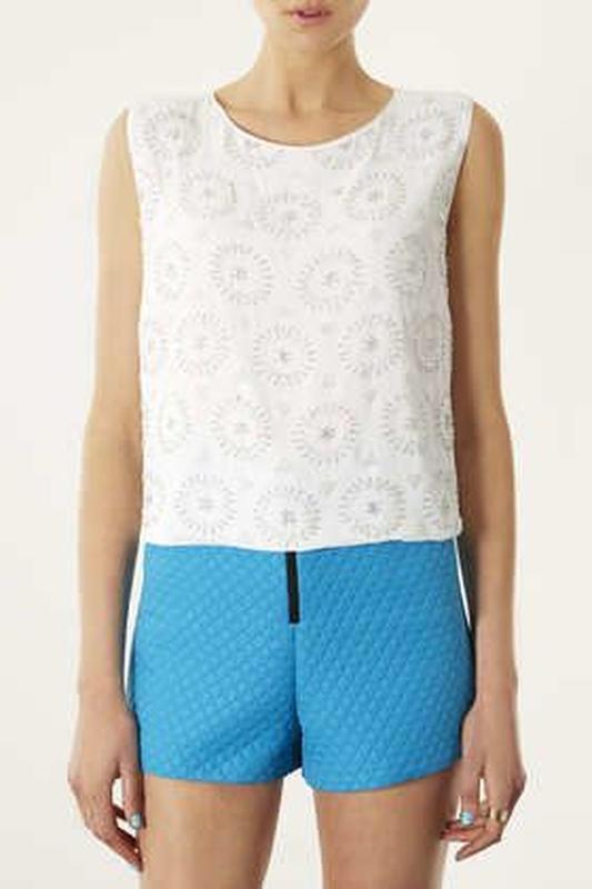 Topshop блуза расшитая бисером