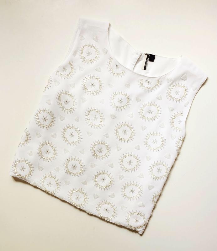 Topshop блуза расшитая бисером - Фото 2