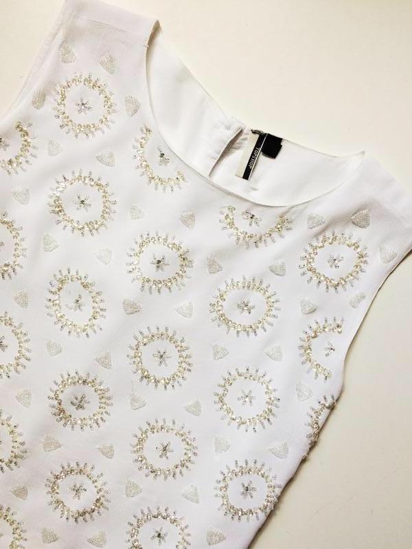 Topshop блуза расшитая бисером - Фото 3