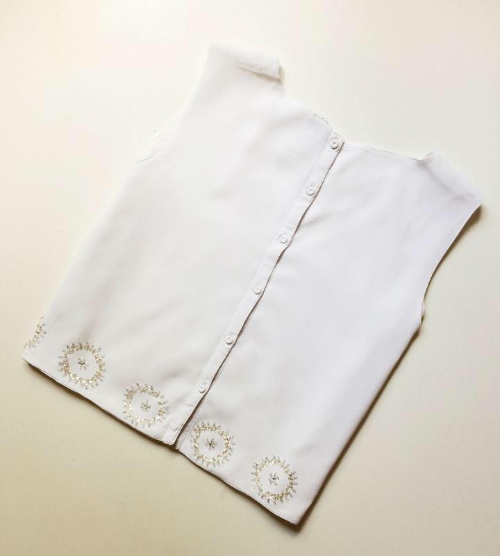 Topshop блуза расшитая бисером - Фото 6