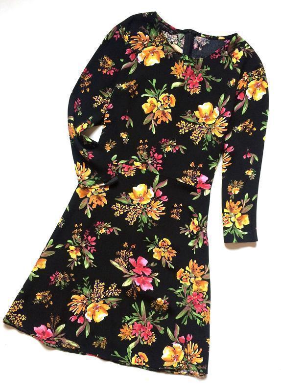 Zara платье в цветочный принт - Фото 4