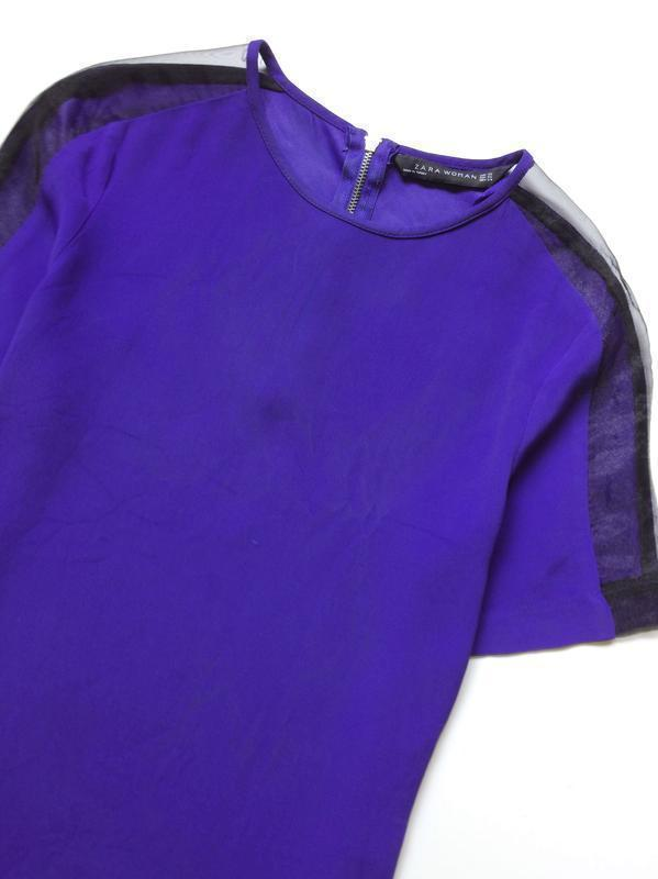 Zara блуза с прозрачными деталями на рукавах - Фото 5