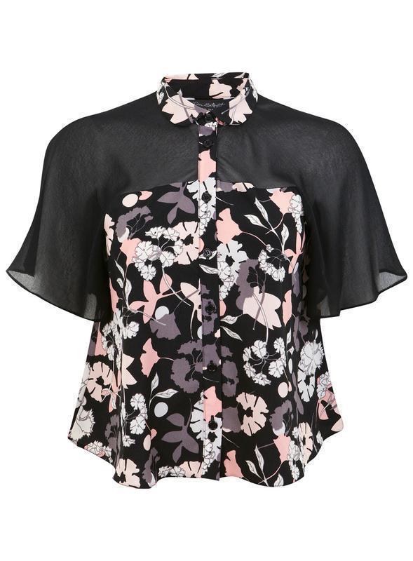 Miss selfridge блуза в цветочный принт