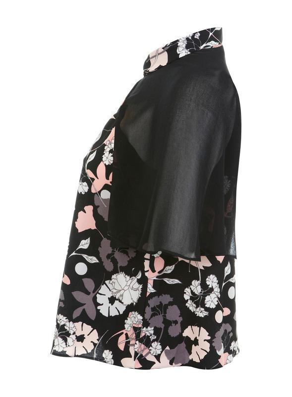 Miss selfridge блуза в цветочный принт - Фото 2