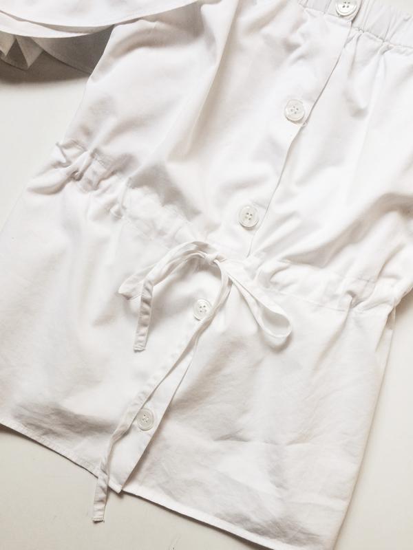 H&m блуза на пуговицах с открытыми плечами - Фото 5