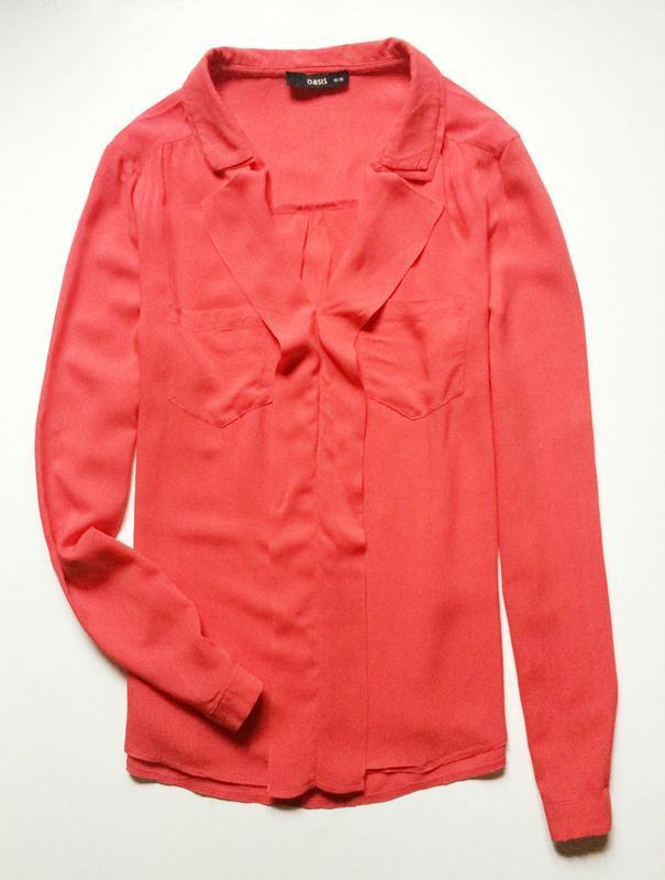 Oasis коралловая блуза - Фото 2